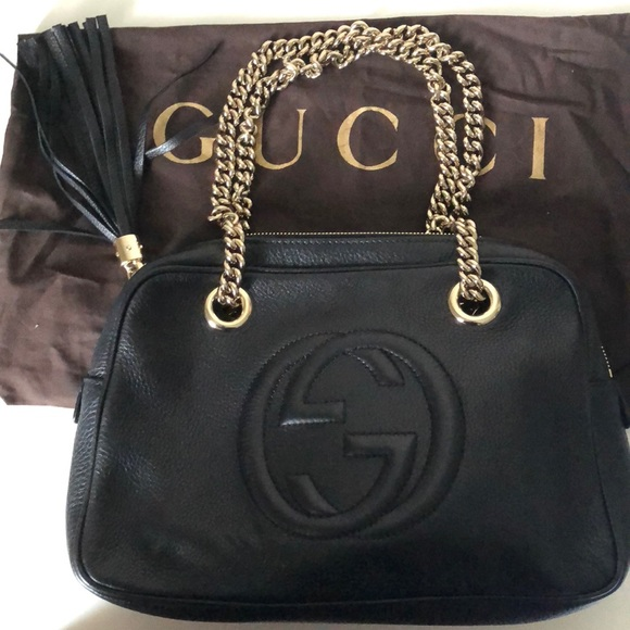 4fbccbdcd Gucci Handbags - Gucci Soho Disco shoulder bag. Small. Black